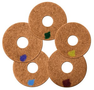 "17"" Spinergy Stone Polishing Pads - Set of 5"