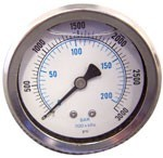 GAUGE WATER PRESSURE 3000PSI
